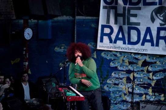 Reggie Watts performs live at Flemingo Cantina in Austin Texas for SXSW Festival